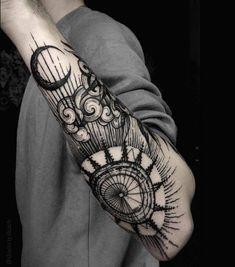 tatouage-viking-boussole-idées