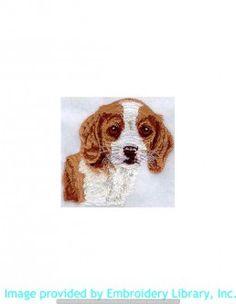 Stickmotiv Stickbild Aufnäher Stickerei Emblem Beagle  Beagle /  Stickerei Beagle Puppy Head (I1084)