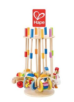 Hape's push and pull toys appeal to the imagination while developing motor skills and problem solving. \ \ Little ones will love the whirl of colour every time they give this toy a little push or pull. Toddlers can practise concepts such as fast/s Kids Toy Store, Push Toys, Toy Display, Toys Online, Toys Shop, Educational Toys, Kids Playing, Wooden Toys, Wind Chimes