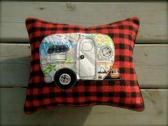 Little Vintage Camper Pillow, decorative accent pillow
