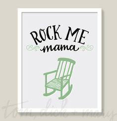 Rock Me Mama - Art Print – Tom, Dick & Mary