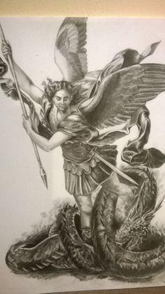 Anioł wykonany ołówkiem w formacie a4.