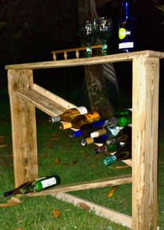 The Reclaimed Barn Wood Wine Rack by Sean Curran. Visit https://www.facebook.com/thenextbestthinginerwin Thanks, Mike.