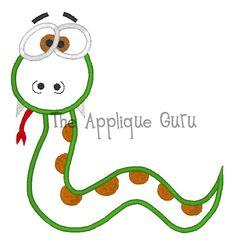 Silly Snake Machine Applique Embroidery Design by TheAppliqueGuru