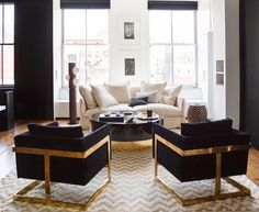 The NYC apartment of celebrity hair colorist Rita Hazan designed by Nate Berkus and Jerimiah Brent.