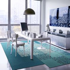 Our modern carpet tiles allow you to create custom, unique area rugs that are as durable as they are stylish. Design your perfect rug with FLOR. Grey Carpet Hallway, Blue Carpet Bedroom, Teal Carpet, Carpet Tiles, Stair Carpet, Cheap Rugs, Modern Carpet, Home Hacks, Rugs