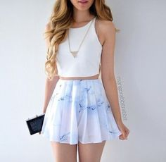 blouse white skirt blue pastel pastel blue pink blue white pink pastel pink multicolor light blue blue skirt white top love dress shirt marble tumblr tumblr girl skater skirt tumblr outfit shorts high waisted shorts top outfit