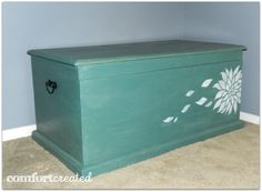 Inspiration and tips to give a plain hope chest whimsy! www.comfortcreated.com