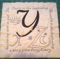 XYZ antique alphabet quilt