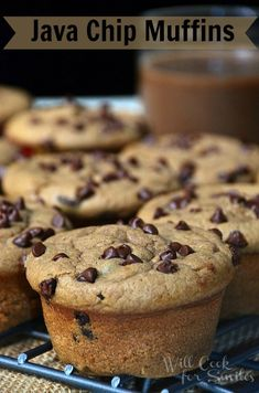 Java Chip Muffins | willcookforsmiles.com | #muffins #chocolatemuffins #TasteSilk