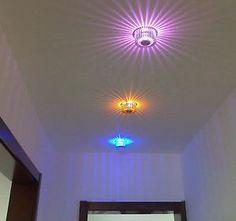 2 x LED-Deko RGB Einbau-Lampe mit Fernbedienung- automatischer Farbwechsel ! LED Licht ist modern und sparsam !