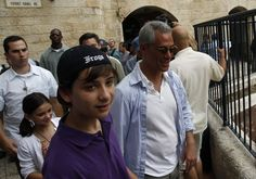 Rahm Emanuel (R) and his son Zach visit the Jewish Quarter of Jerusalem's Old City May 27, 2010. Photo By: REUTERS