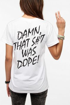 $34.00 N.W.A Straight Outta Compton Damn That Was Dope Tee via Urban Outfitters