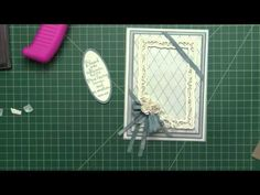 how she puts a card together - love the adhesive tip for straight layers