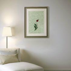 New in my #etsy shop: Ebru Art Burgundy Tulip ORIGINAL Painting https://etsy.me/2pxQwzJ #housewares #homedecor #red #kitchen #dining #frames #blue #painting #mothersday #moving #tulip #flower #burgundy #ebru #turkishart #wallart #floralart