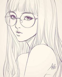 Beautiful drawing, beautiful girl