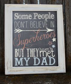 Father's Day Printable - Superhero - Dad - Chalkboard - Instant Download -PDF