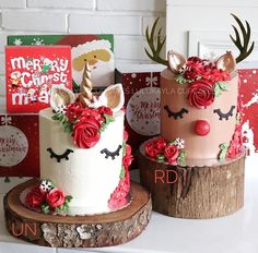 62 Awesome Christmas Cake Decorating Ideas and Designs : Christmas cakes decorating easy; Christmas cake ideas and designs; Christmas Wedding Cakes, Christmas Tree Cake, Christmas Cake Decorations, Christmas Cupcakes, Christmas Sweets, Christmas Cooking, Holiday Cakes, Holiday Treats, Christmas Unicorn