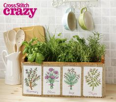 Bring the outdoors inside with these lovely herb charts from issue 189 – click here to buy a copy http://secure3.subscribeonline.co.uk/origin/products.sol?mag=CSCZ or visit your app store to download it to your tablet or smartphone!