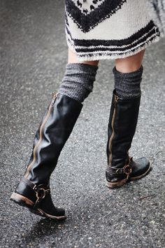 Tall boots, Free People.