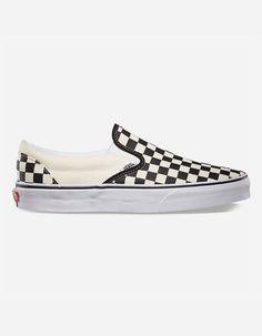 VANS Checkerboard Slip-On Black   Off White Shoes - CHECK - 281027917 9c5f2d1ea46