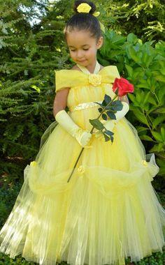 Yellow Flower Girl Dresses, Halter Girl Party Dress,