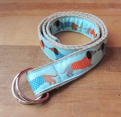 Dachshund Children's D Ring Belt