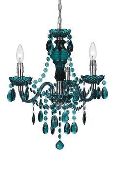 angelo:HOME Fulton Green 3 Light Chandelier by AF Lighting on @HauteLook