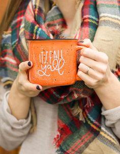 PREORDER: It's Fall Y'all Orange Camper Mug