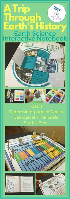 The Earth Science Interactive Notebook: A Trip Through Earth's History. Each activity enables students to process the information given by the teacher then allows them to use self-direction to apply their new knowledge. The engaging activities always vary in order for all students to use and benefit from different learning styles. Activities included correlate with the Next Generation Science Standards.