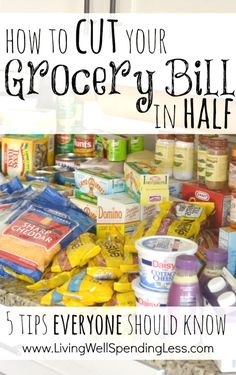 How to cut your grocery bill in half. These five simple strategies can save you hundreds each month on the food your family already buys. A must read! save money on food frugal meal ideas, meal planning tips and budget recipes! Info Board, Vida Frugal, Frugal Tips, Just In Case, Just For You, Money Saving Meals, Money Savers, Save Money On Groceries, Free Groceries