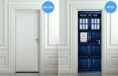 TARDIS door sticker