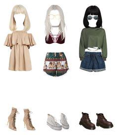 """""""3 is a crowd"""" by leahxchloe ❤ liked on Polyvore featuring Chicnova Fashion, Giuliana Romanno, Balmain, WithChic and American Apparel"""