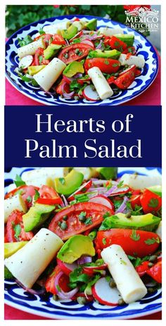 Hearts of palm are the tender shoots of the palm tree's inner core. You can find them sold in cans at your local grocery store in the condiment or gourmet section #salad mexicanfood #mexicanrecipes #homecook #avocado