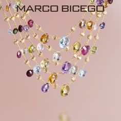Marco Bicego Paradise collection – The Latest Color Explosion at Mulloys Fine Jewelry.  Check out all the latest Paradise at Mulloysjewelry.com or click here - http://www.mulloysjewelry.com/designers/marco-bicego/filter/drp_subcollection/paradise.html?limit=all