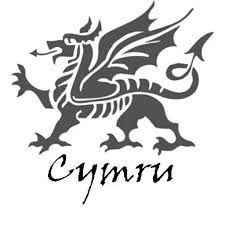 Welsh dragon pattern. Use the printable outline for crafts