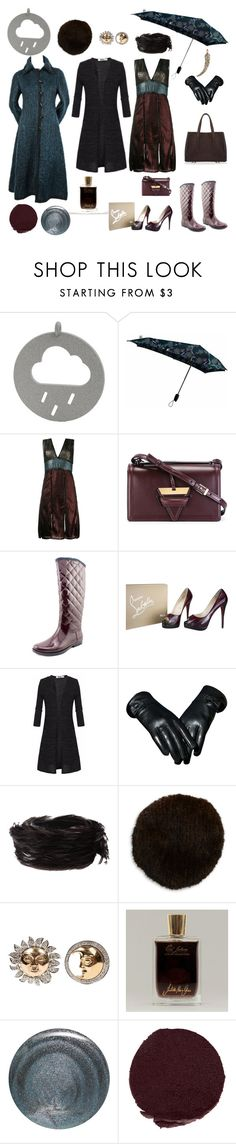 """happy rain day"" by harikleiatsirka ❤ liked on Polyvore featuring Minimal, House of Holland, Loewe, Tommy Hilfiger, Christian Louboutin, Dries Van Noten, Surell, Demner, Juliette Has A Gun and RGB Cosmetics"