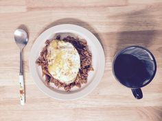 Breakfast on May 2nd, 2016.  #kimchi #김치볶음밥
