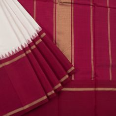 Sri Sagunthalai Silks Handwoven Korvai Kanchipuram Silk Saree with Temple Border 10002707 - AVISHYA