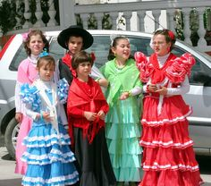 Traditional Spanish Fashion   Spanish Children in Traditional Clothing at Village Festival in Pinos ...