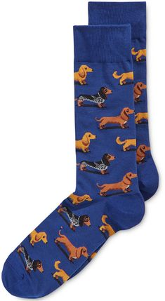 Hot Sox Men's Dachshunds Printed Socks