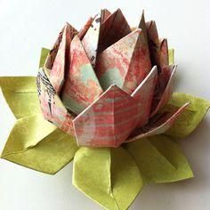 My origami lotus flower