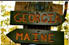 Appalachian Trail - From Georgia to Maine. Begins at Springer Mountainn on Gilmer Fannin line. The 2000 mile trail follows the eastern ridge of the Appalachian Mountains and passes through 14 states. http://www.appalachiantrail.org/about-the-trail