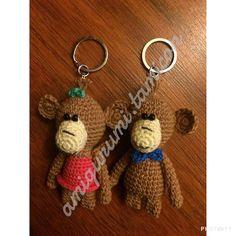 Pareja de monitos listos para ser entregados  #amigurumi #monitos #amor #crochet #llavero #enamorados by amigurumi.tamicon