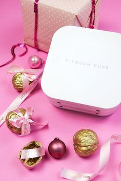 Geschenke in der Walnuss – 3 geniale Last Minute DIY Ideen – Mehr Infos über den P-touch Cube findest du auf www.brother.de/beschriftungsgeraete/pt-p300bt