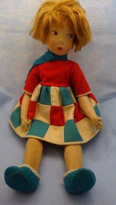 "Lenci or Lenci Type, 23"" #109 Type, Piecework Dress, Fiery Red Head #LenciorLencitype #DollswithClothingAccessories"