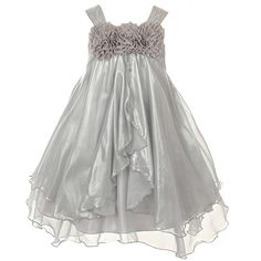 Kids Dream Silver Shiny Chiffon Special Occasion Dress Toddler Girl 4T ** Want additional info? Click on the image. (This is an affiliate link) #BabyGirlDresses
