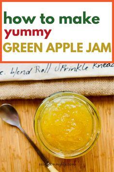 How To Make A Yummy Green Apple Jam. #homemadejam #applejam #recipes #easyrecipes #veganrecipes Healthy Toddler Meals, Easy Meals For Kids, Quick Meals, Kids Meals, Healthy Snacks, Homemade Baby Puree Recipes, Pureed Food Recipes, Jam Recipes, Whole Food Recipes