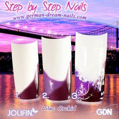 Step by Step zur perfekten Nailart.  http://www.german-dream-nails.com/content/Nailart-Anleitungen.html  #Nailart #Jolifin #Naildesign