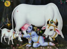 krishna drinks cow's milk
